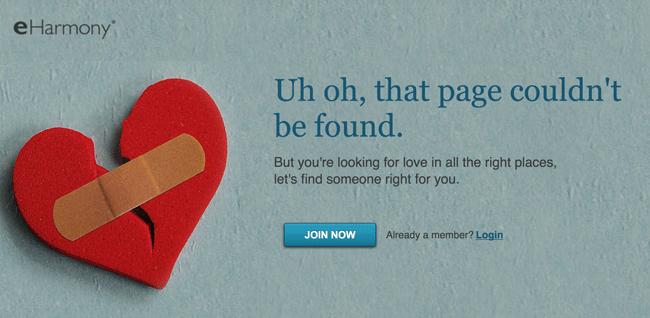eharmony error page