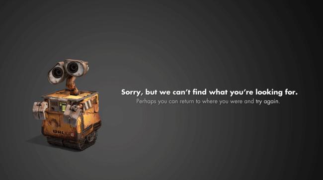 pixar error page