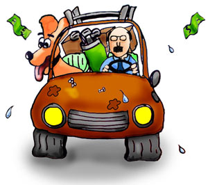 driver overload car fuel efficiency
