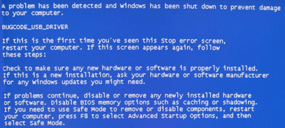 bugcode blue screen error