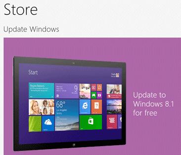 windows 8.1 store upgrade free