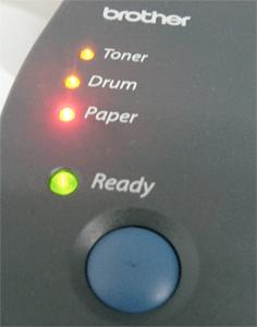 brother printer lights errors