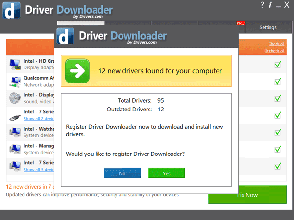 register driverdownloader