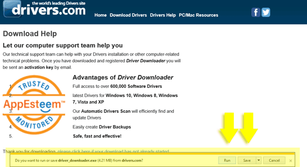 run driver downloader
