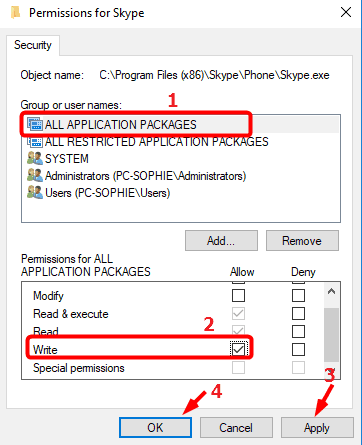 application packages write