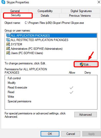 skype security edit