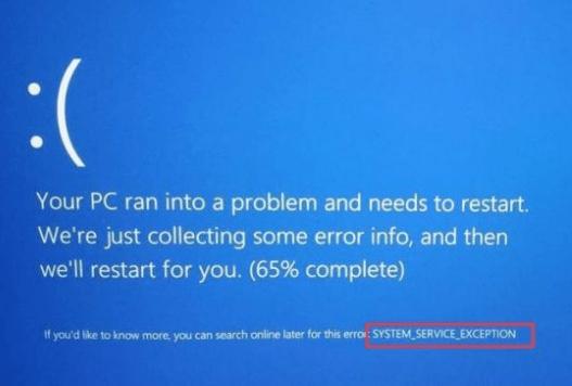 System Service Exception error