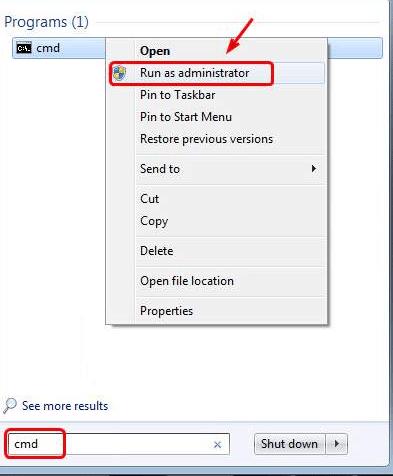 cmd - admin