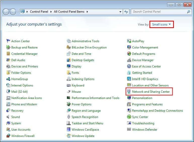 how to fix dns server error windows 7