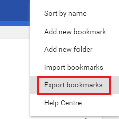 clck export bkmrks