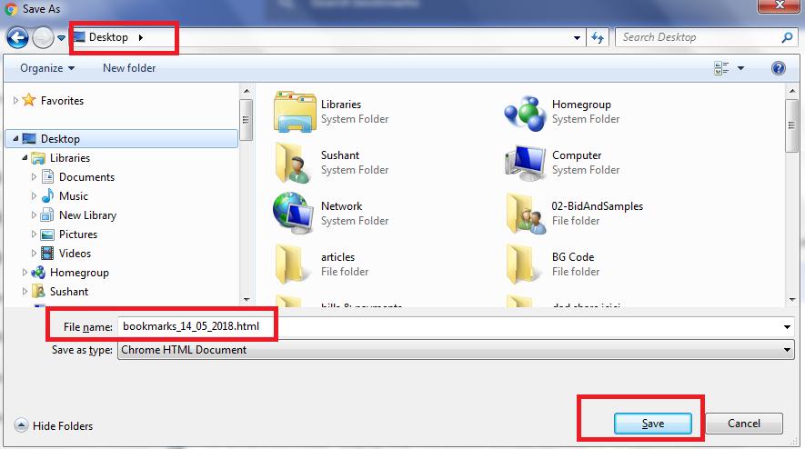 save bkmrk file