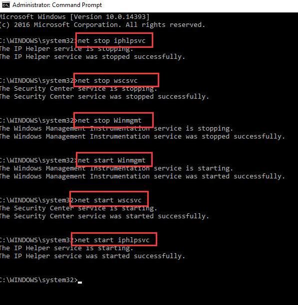 net stop commands