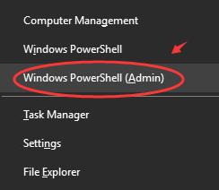 windows powershell admin