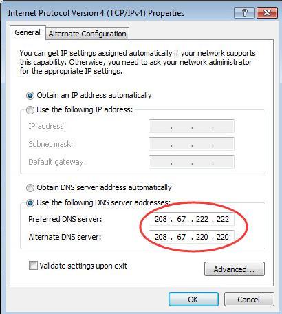 use dns addresses