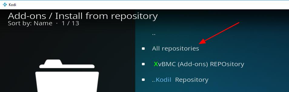 all repositories