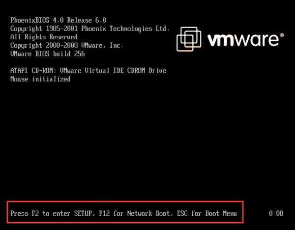BIOS notification