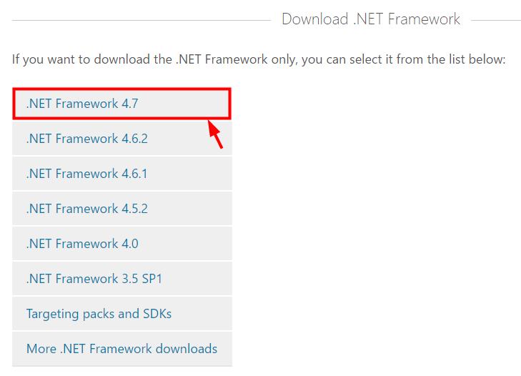 select net framework