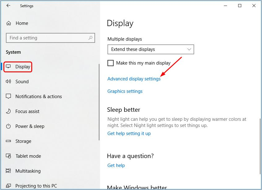 adv display settings