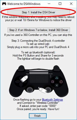 install DS4 driver