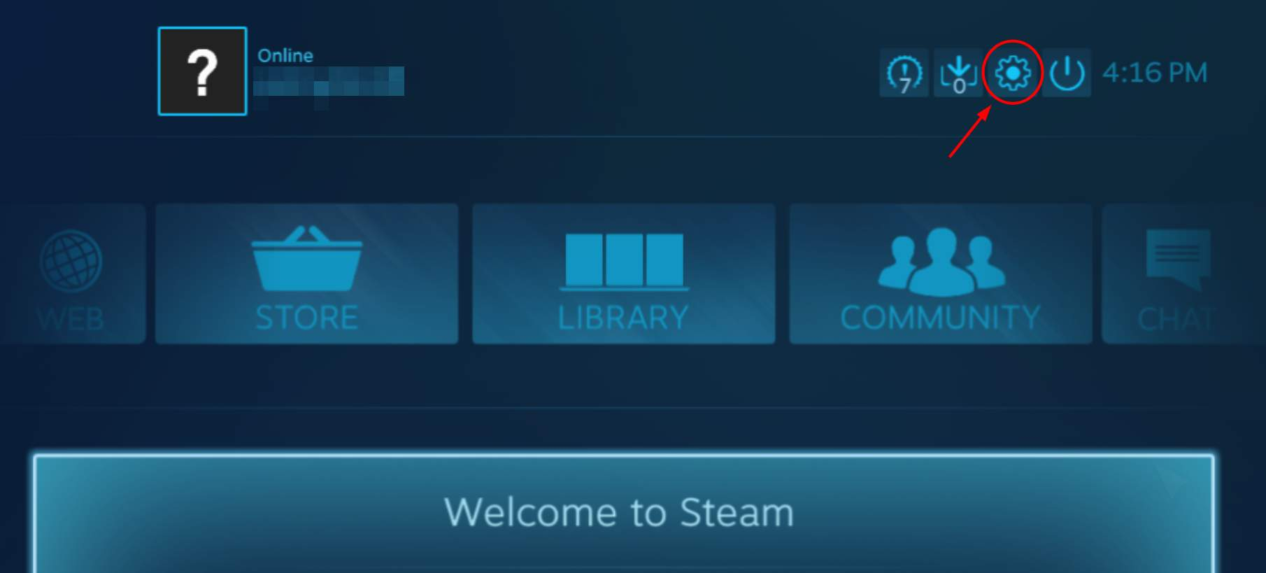 Steam-Settings