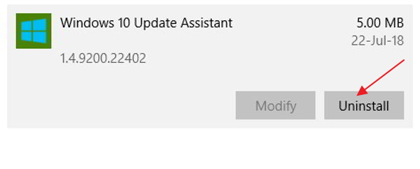 update assistant
