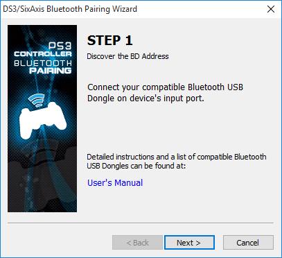 DS3 pairing step 1