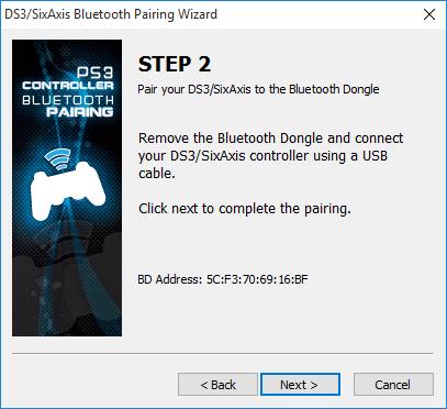 ds3 pairing step 2