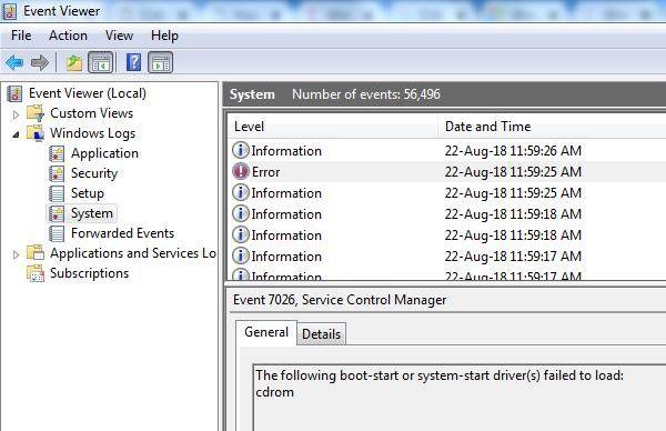 csc-system log