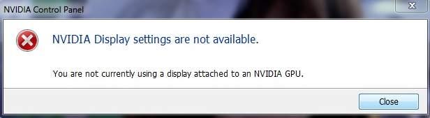 nvidia-settings-not-available-error