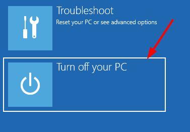 turn off PC