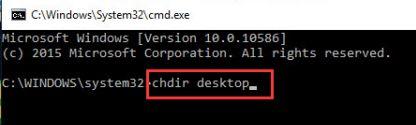 chdir desktop