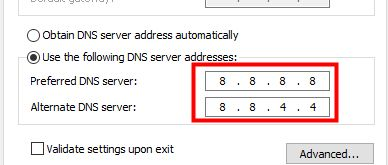 server addresses