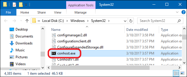 conhost.exe-folder