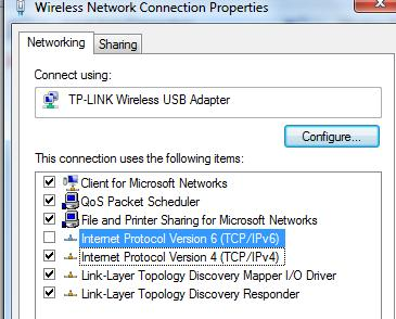 IPv6 unchecked