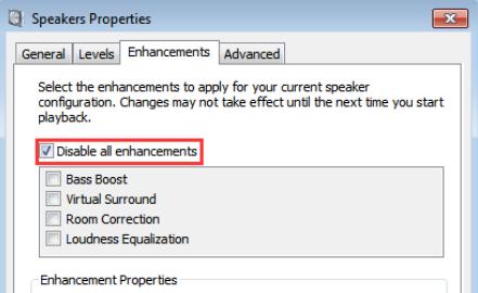 disable enhancements