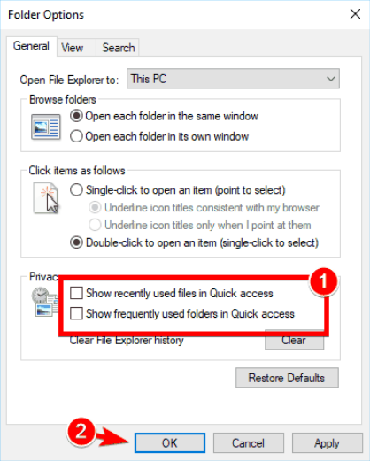 quick access settings