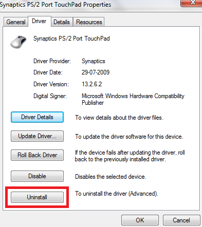 Uninstall Driver