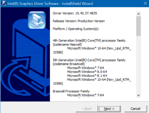 install graphics driver