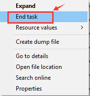 mouse lag-end task