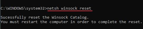 netsh-winsock-reset