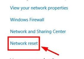 network reset