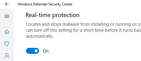 realtime protection