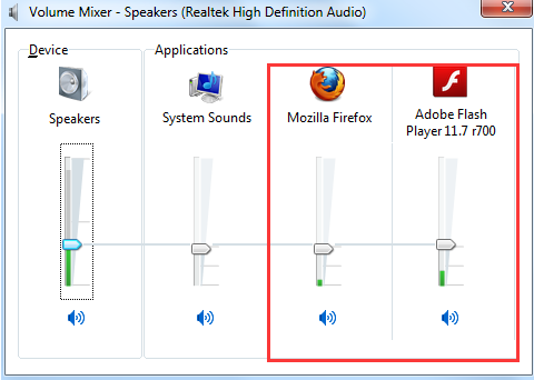 browser sound settings