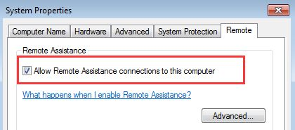 allow remote assistance