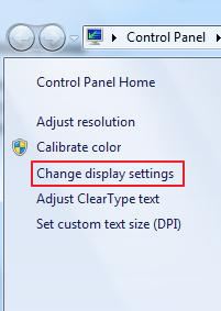 change display settings