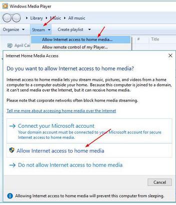 allow internet access