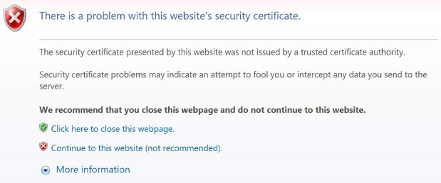 Google Certificate Error