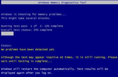 memory diagnostic tool