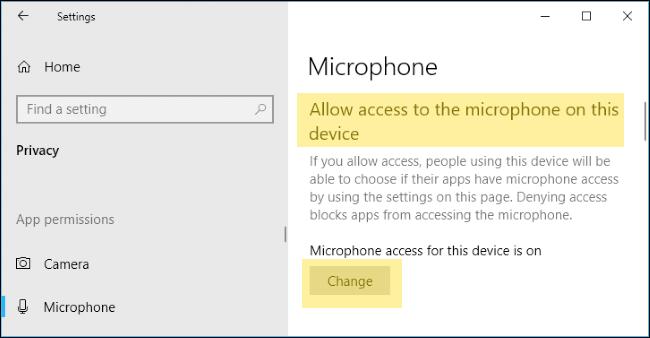 windows 10 microphone settings